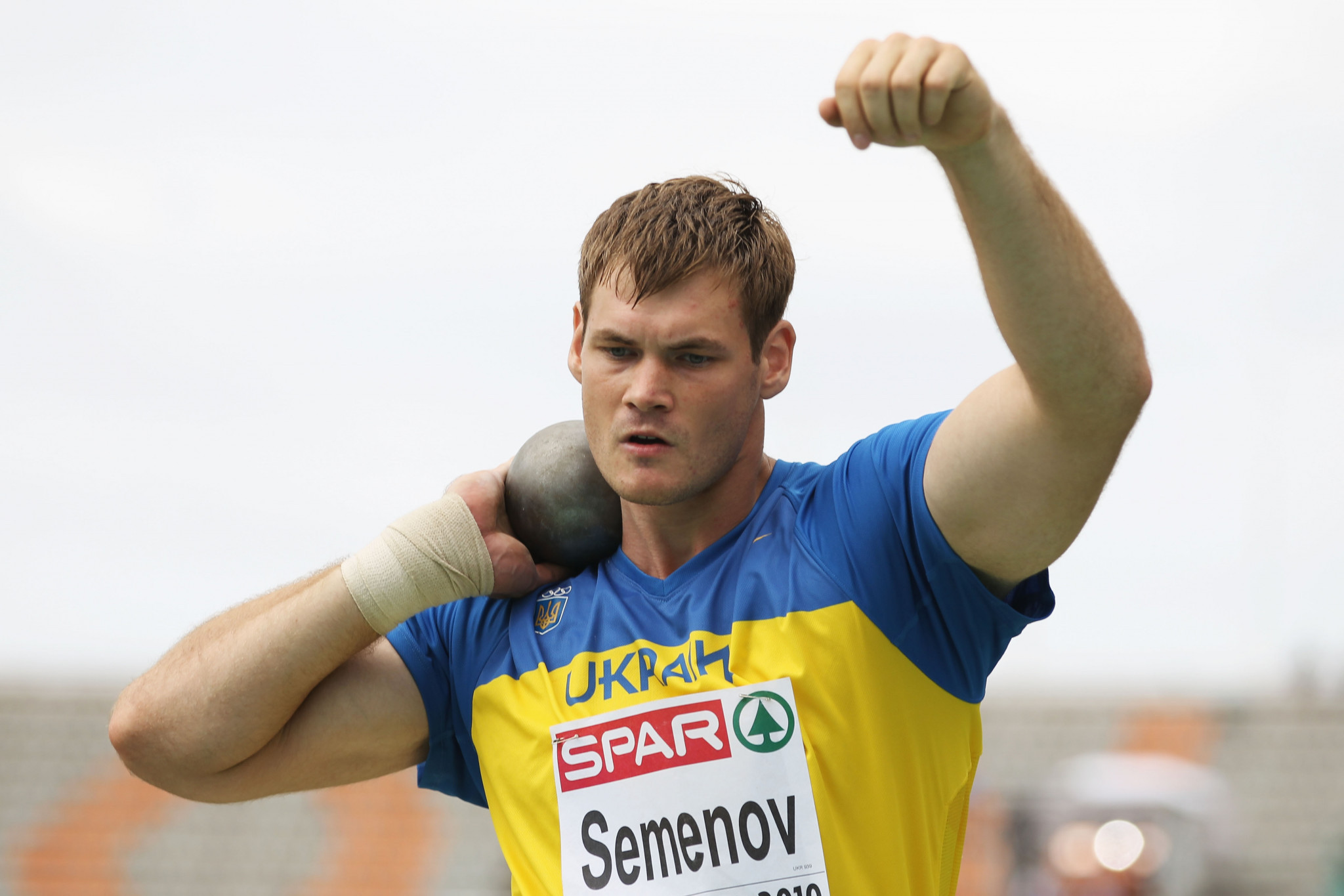 A re-tested 2011 sample from Ukraine shot putter Andriy Semenov has come up positive, the AIU said ©Getty Images