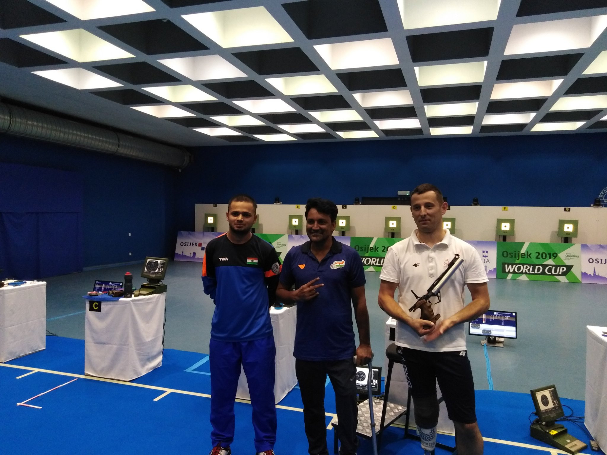 Rahul's world record on fruitful day for India at World Shooting Para Sport World Cup