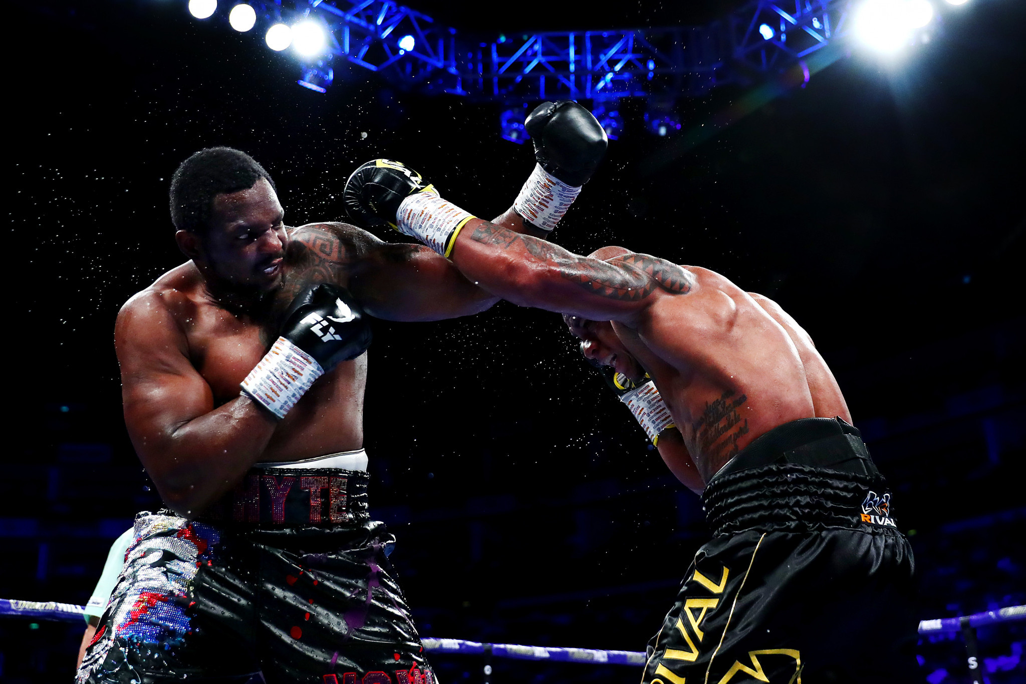 Dillian Whyte outpointed Óscar Rivas at The O2 but it then emerged that he had failed a doping test before the fight ©Getty Images
