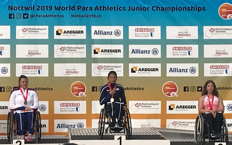 Dederick wins her sixth World Para Athletics Junior Championships gold as action commences in Nottwil