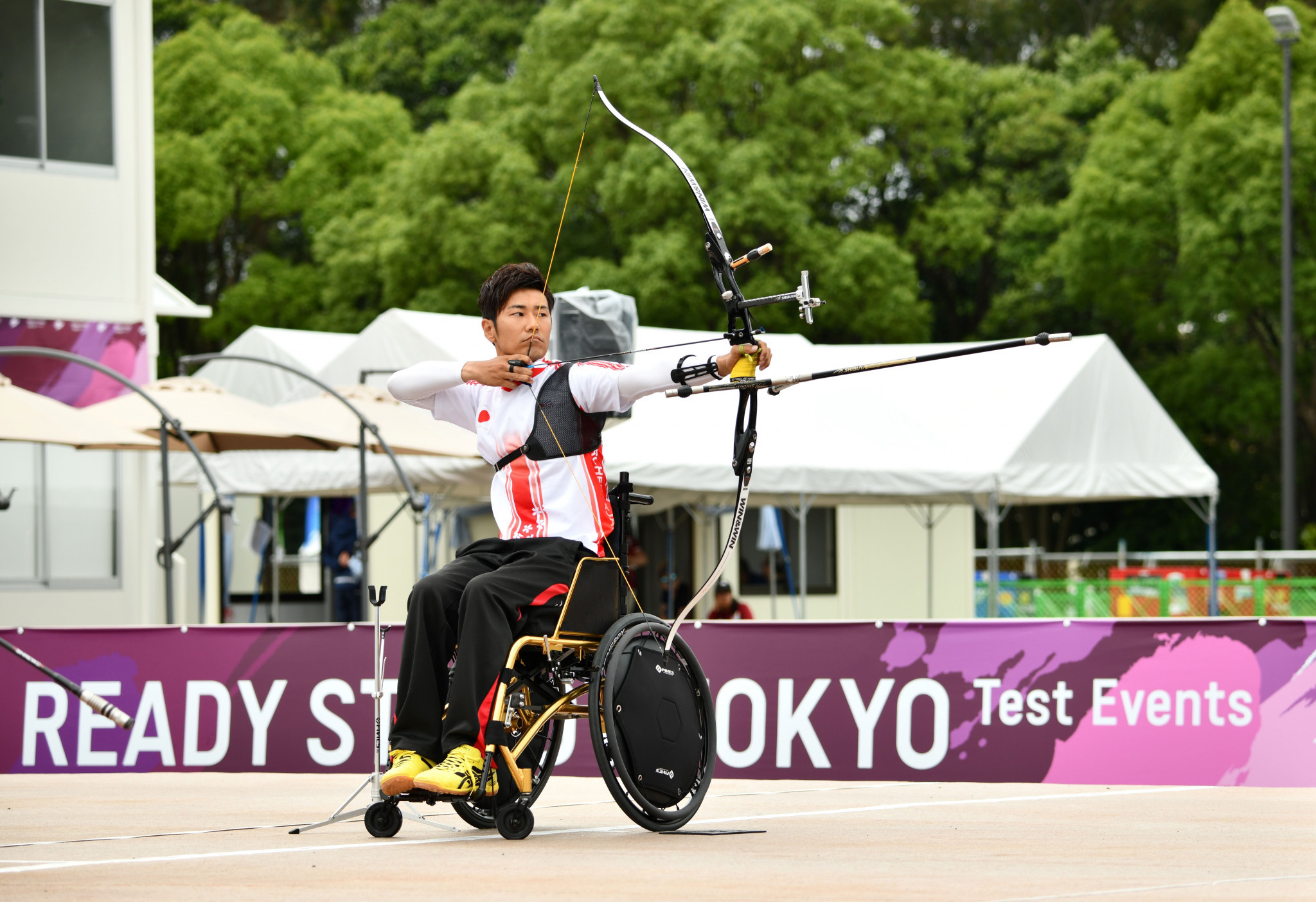 Japanese aarcher Tomohiro Ueyama of Japan claimed he hoped fans attending next year's Paralympic Games in Tokyo would focus on the event's sporting credentials ©Getty Images