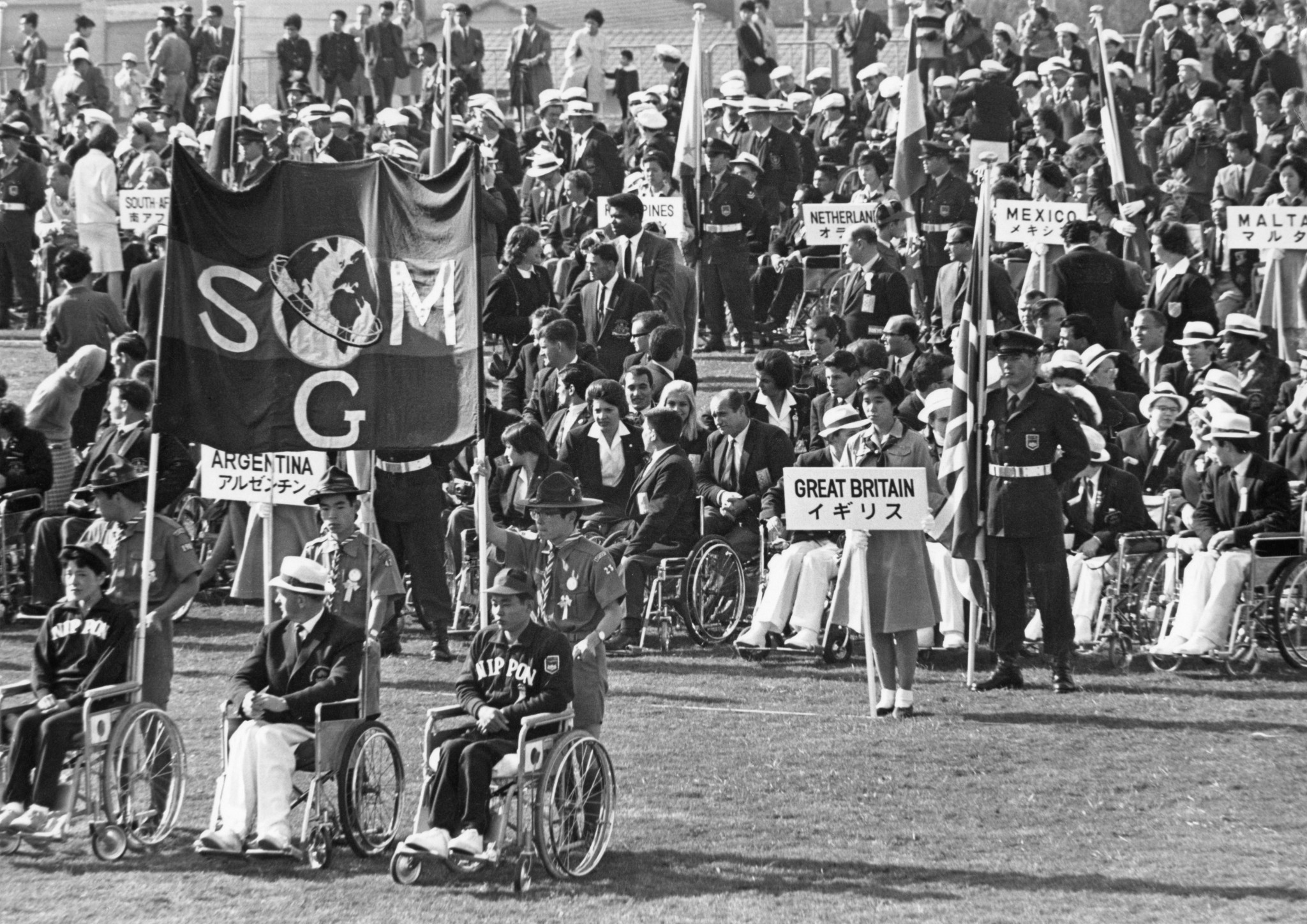 Participation in the 1964 Paralympic Games in Tokyo was seen as a means of rehabilitation for disabled people in Japan ©Getty Images