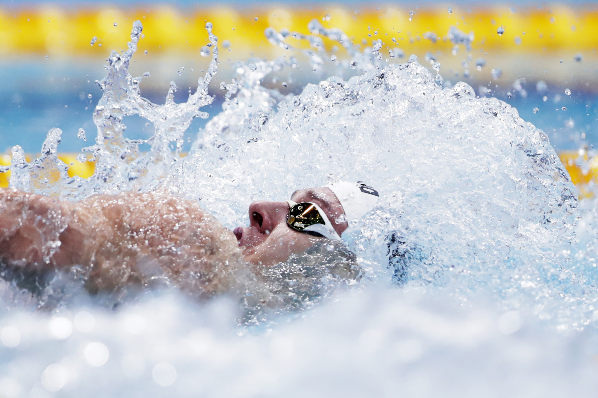 Mitch Larkin was one of Australia's three gold medallists today, winning the men's 200m backstroke event ©Getty Images