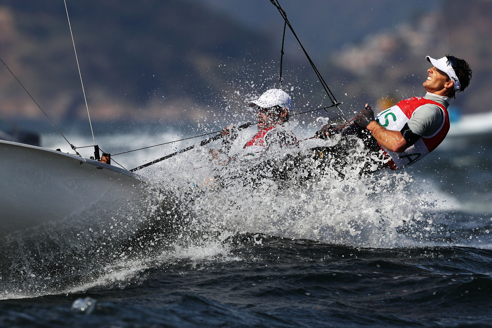 Australian pairing Mathew Belcher and Will Ryan took the lead in the men's event as the 470 World Championships continued today on Enoshima Bay in Japan ©Getty Images