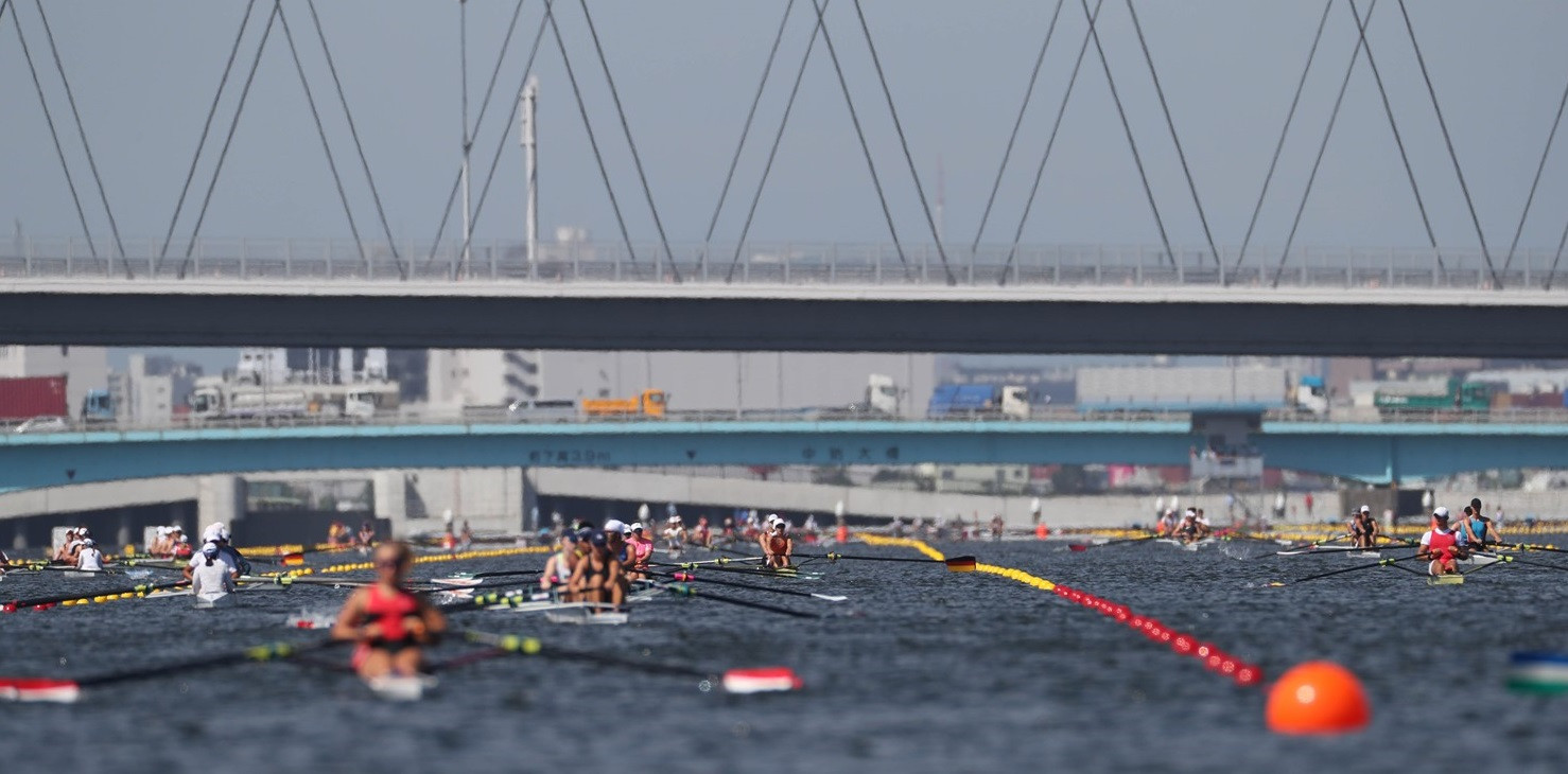 Competition began today in Tokyo ©World Rowing