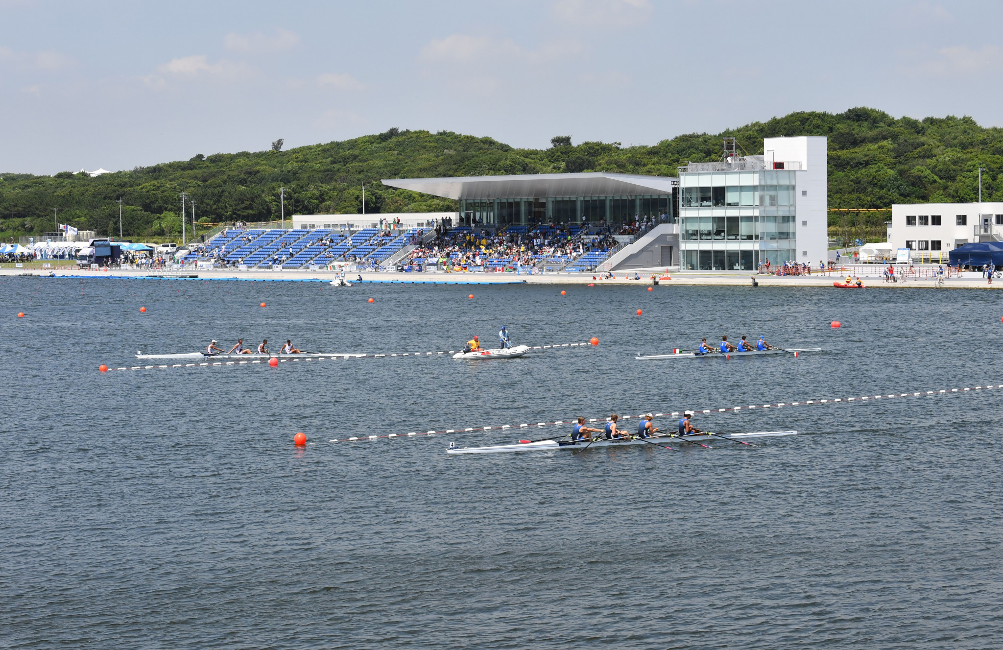 China's women's coxed four broke the junior world's best time mark on day two in Tokyo ©Getty Images