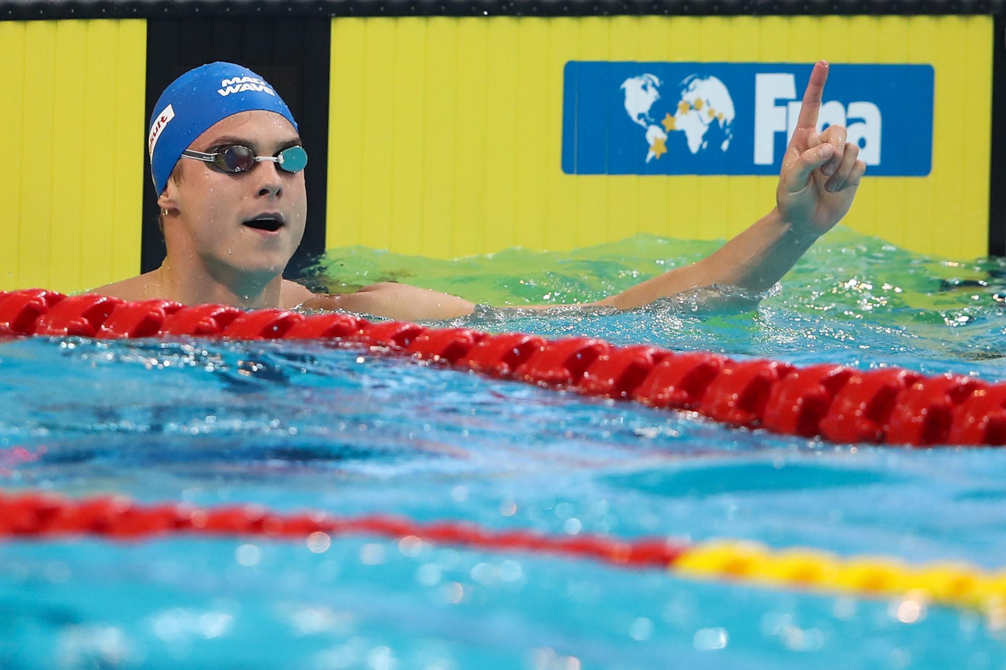 Morozov keeps up good form at Swimming World Cup in Jinan