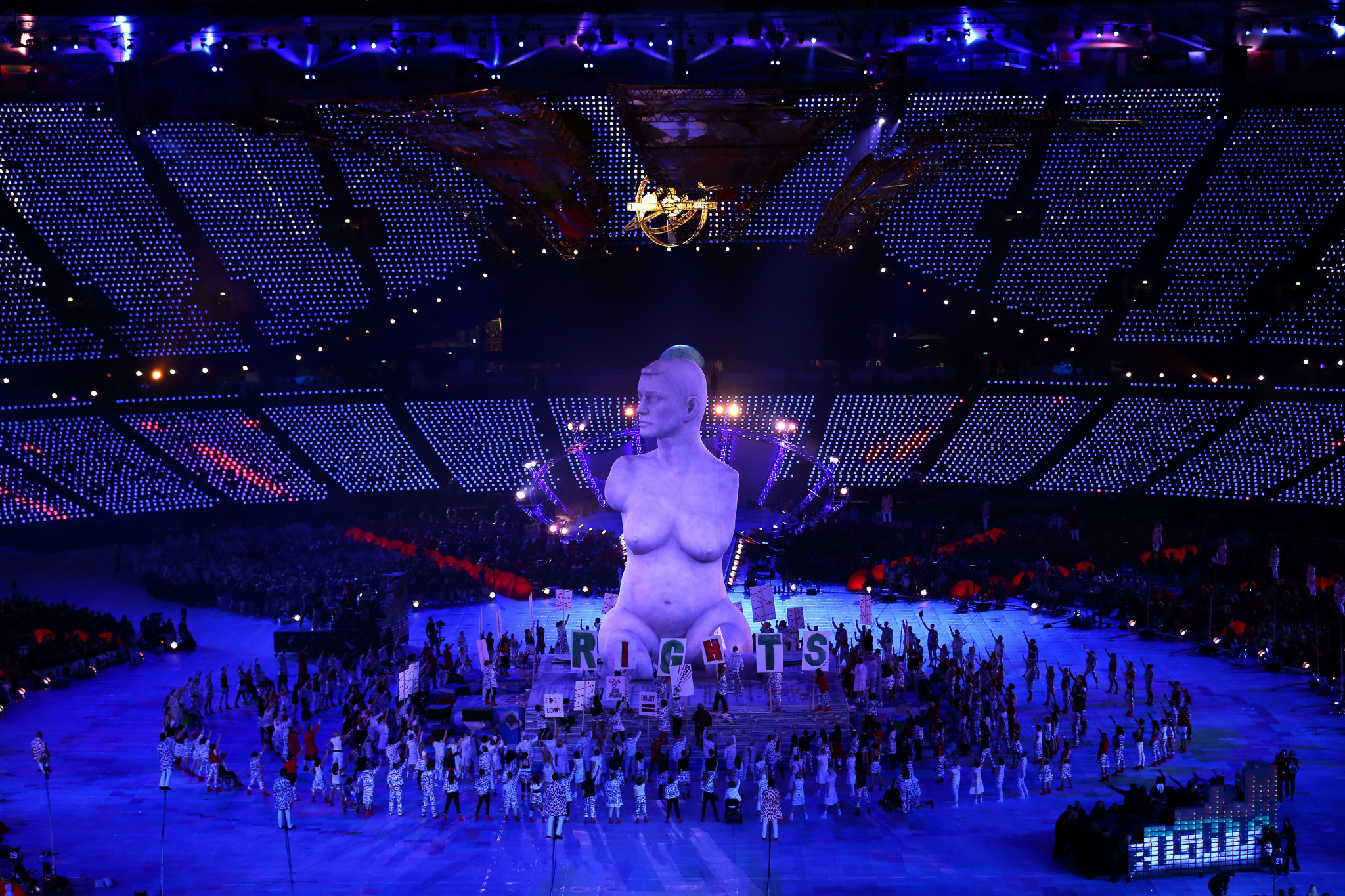 Artists perform during the opening ceremony of the London 2012 Paralympic Games at the Olympic Stadium in east London on August 29, 2012 ©Getty Images