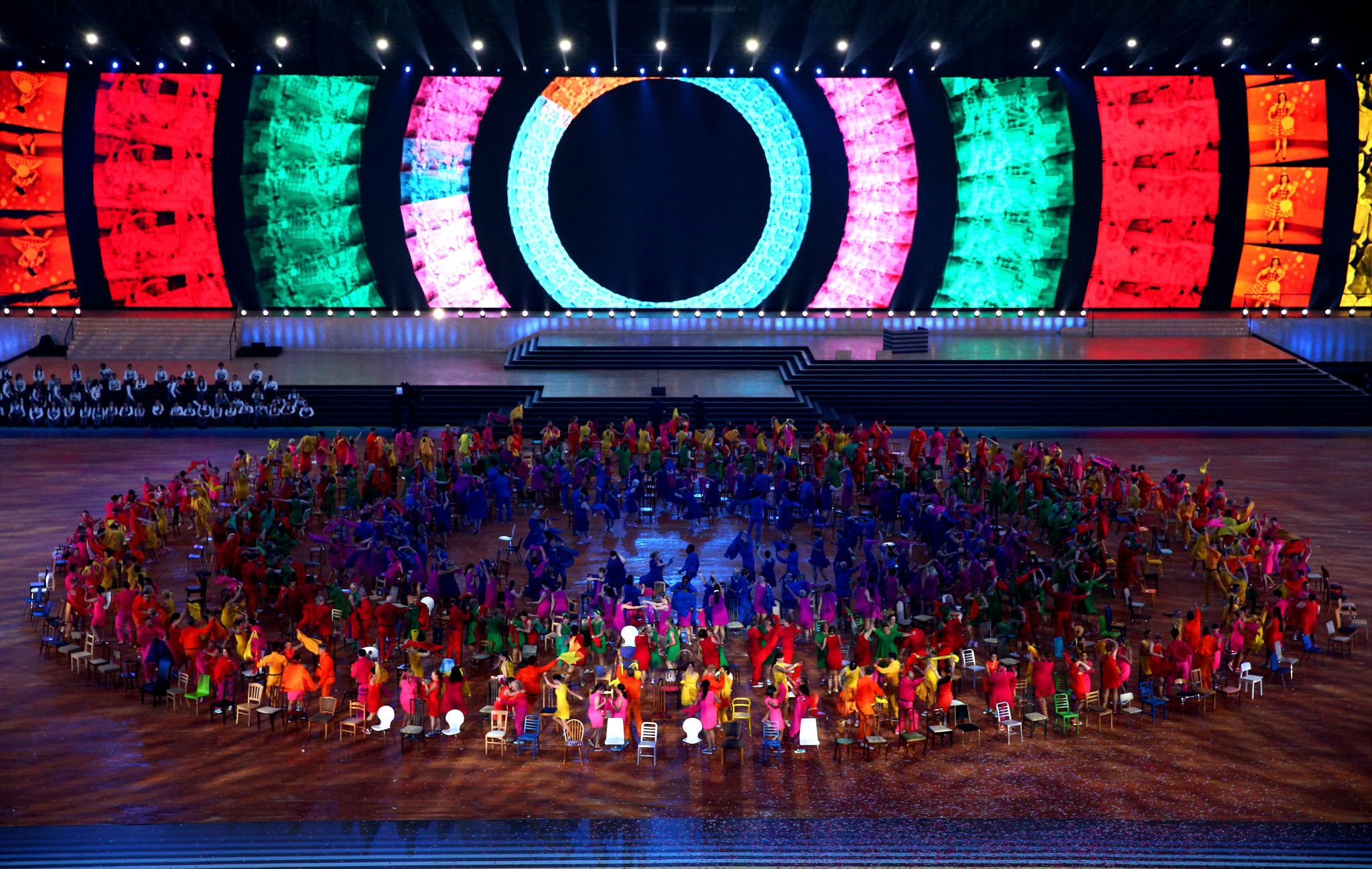 Dancers perform during the Opening Ceremony for the Glasgow 2014 Commonwealth Games at Celtic Park on July 23, 2014 in Glasgow, Scotland ©Getty Images
