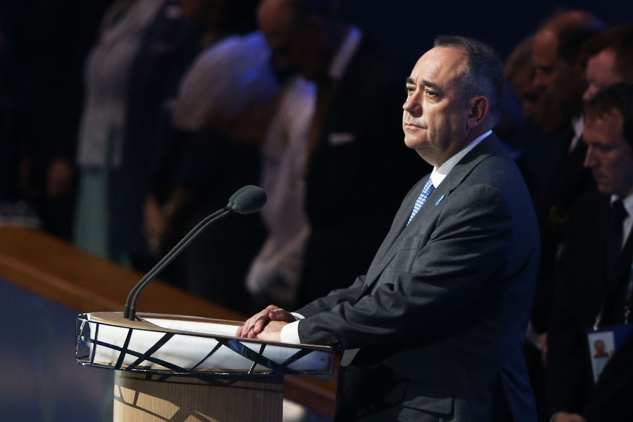 Alex Salmond First Minister of Scotland speaks during the Opening Ceremony for the Glasgow 2014 Commonwealth Games ©Getty Images