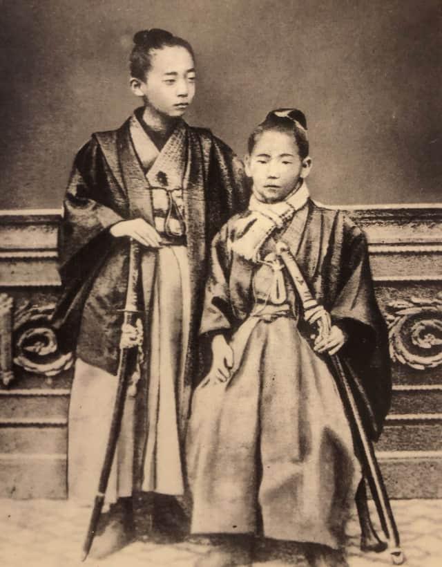 11-year-old Kano Jigoro (right) - © Kodokan Institute