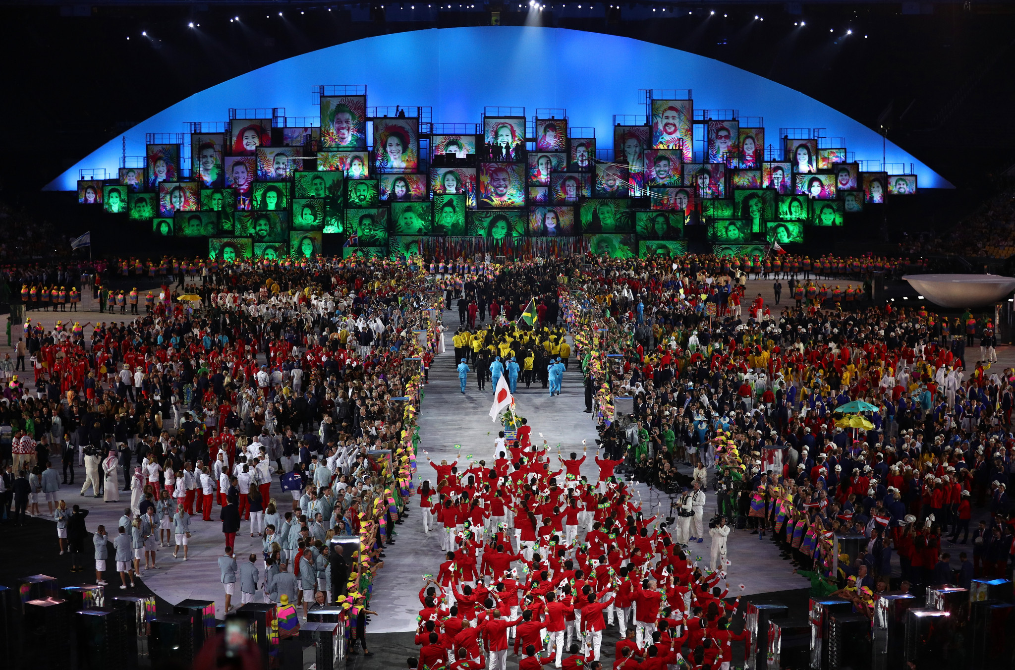 A general view during the Opening Ceremony of the Rio 2016 Olympic Games at Maracana Stadium on August 5, 2016 in Rio de Janeiro ©Getty Images