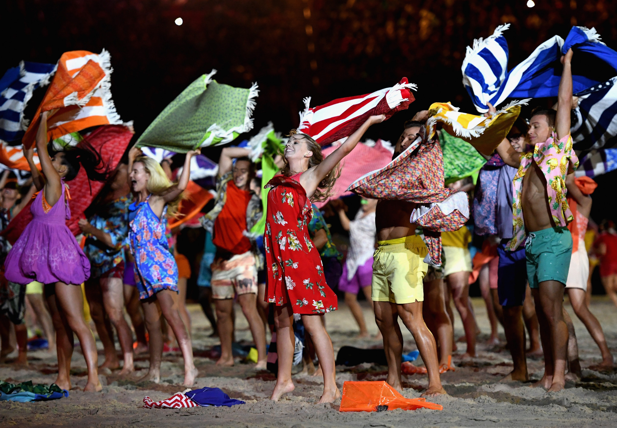 Performers during the Opening Ceremony for the Gold Coast 2018 Commonwealth Games ©Getty Images