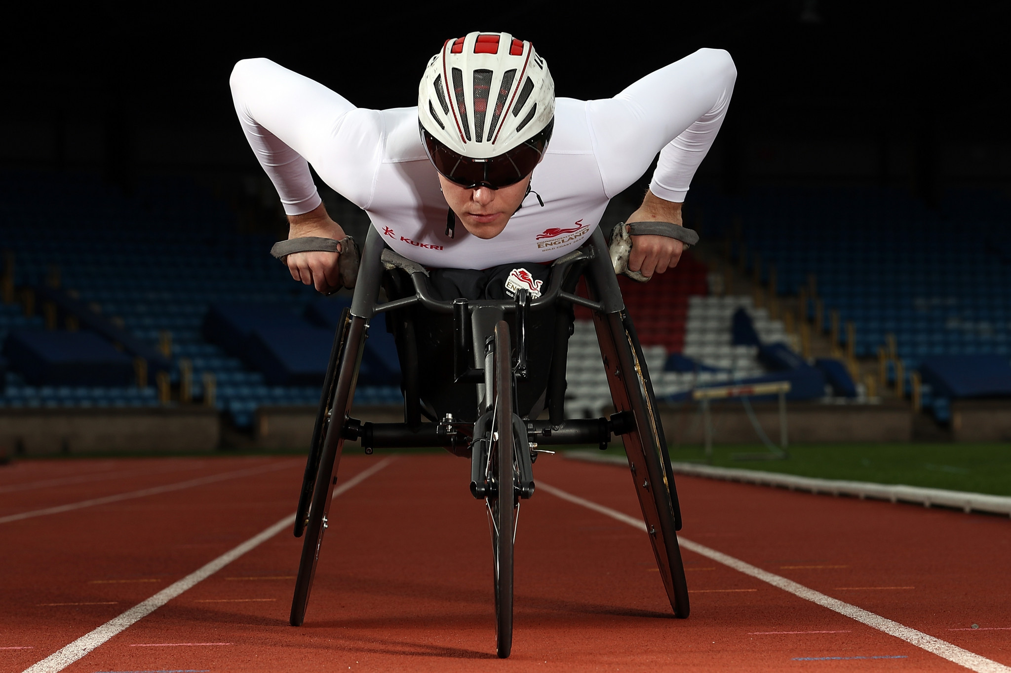 Team England para athletics star from the Gold Coast 2018 Commonwealth Games, Nathan Maguire, at the Alexander Stadium ©Getty Images