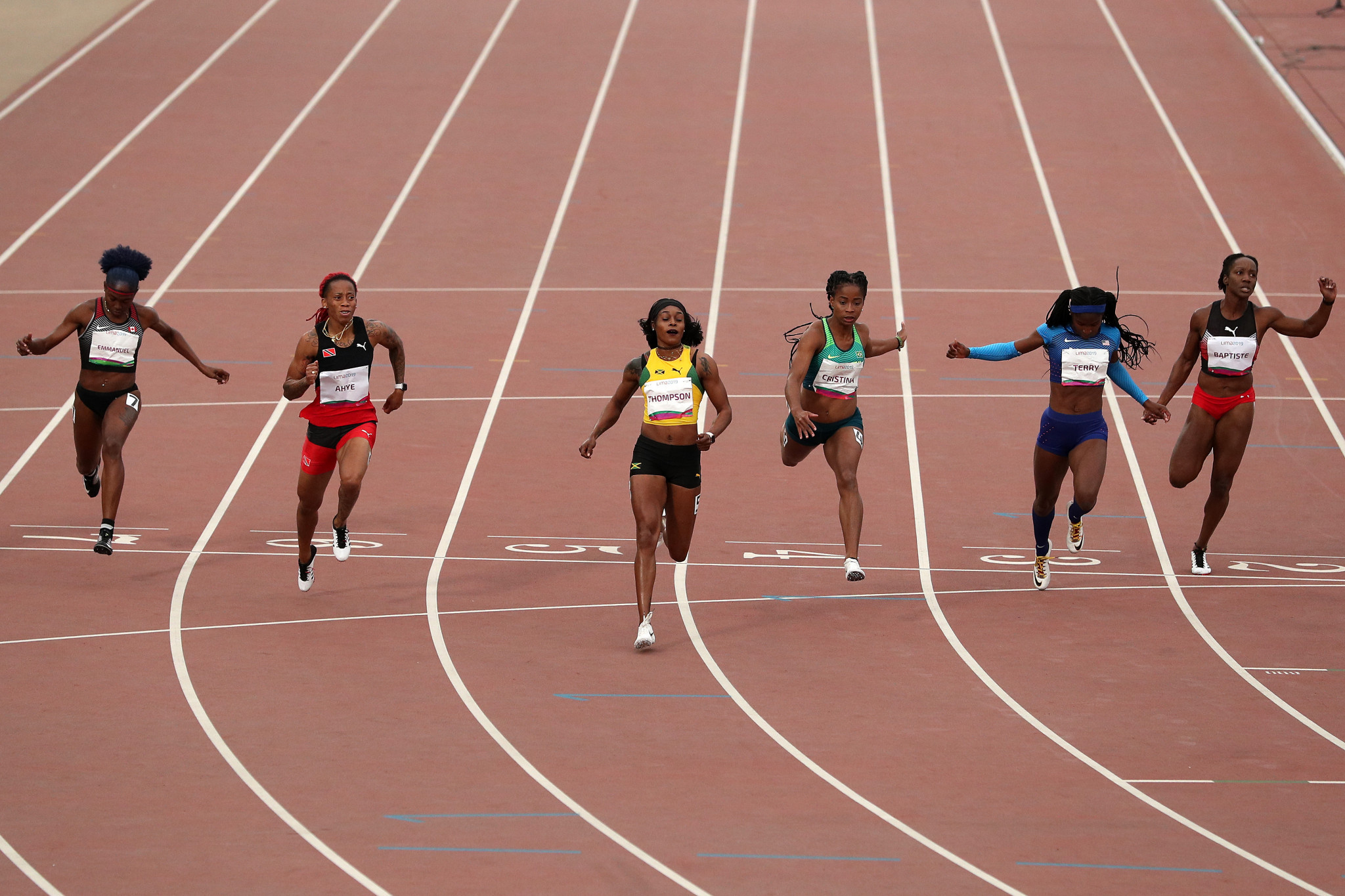 Reigning women's 100m Olympic champion Elaine Thompson of Jamaica eased to victory here, but suggested the event was being used as a warm-up for the World Championships ©Getty Images