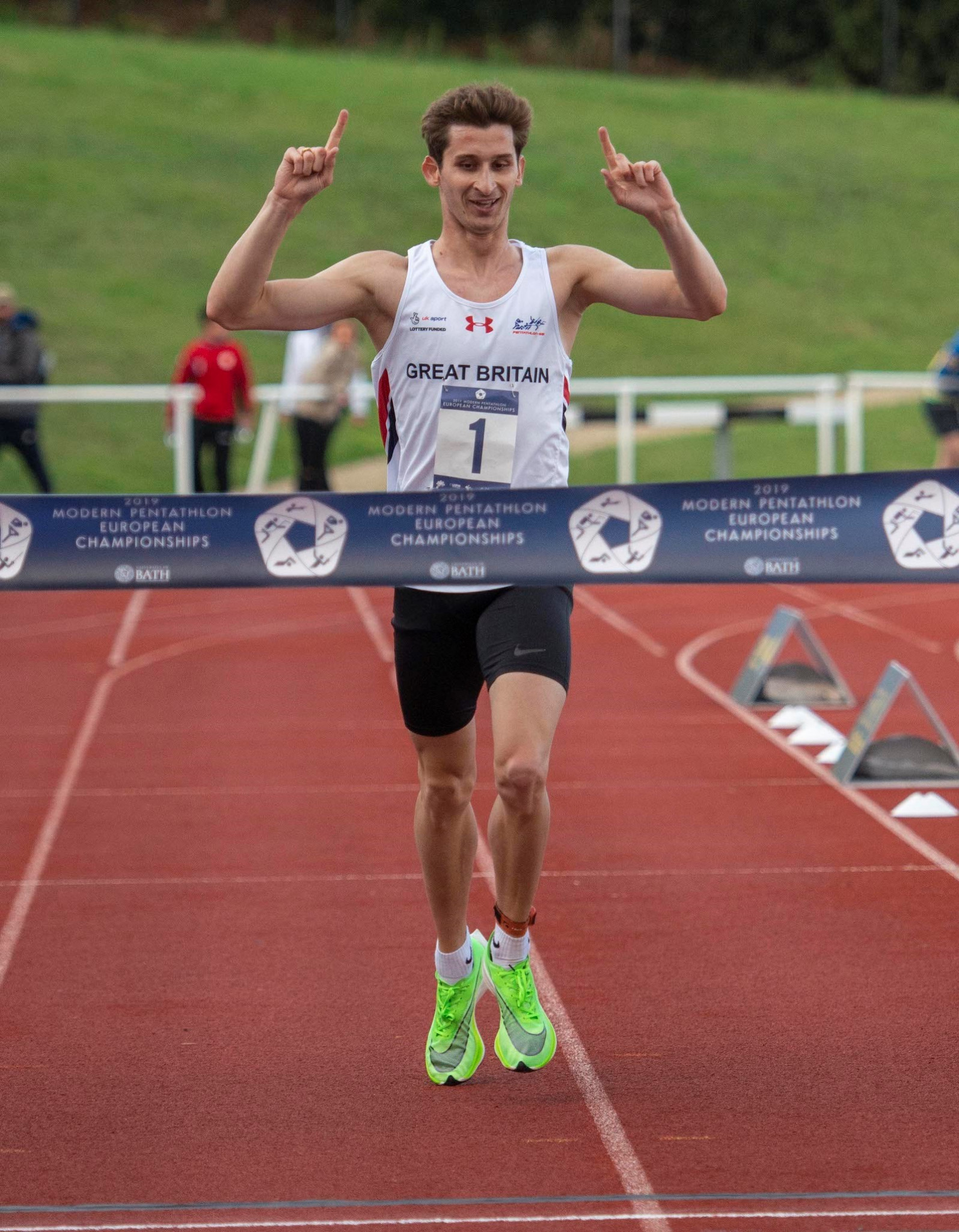 World modern pentathlon champion Jamie Cooke has added the European Championship to his collection ©Clare Green