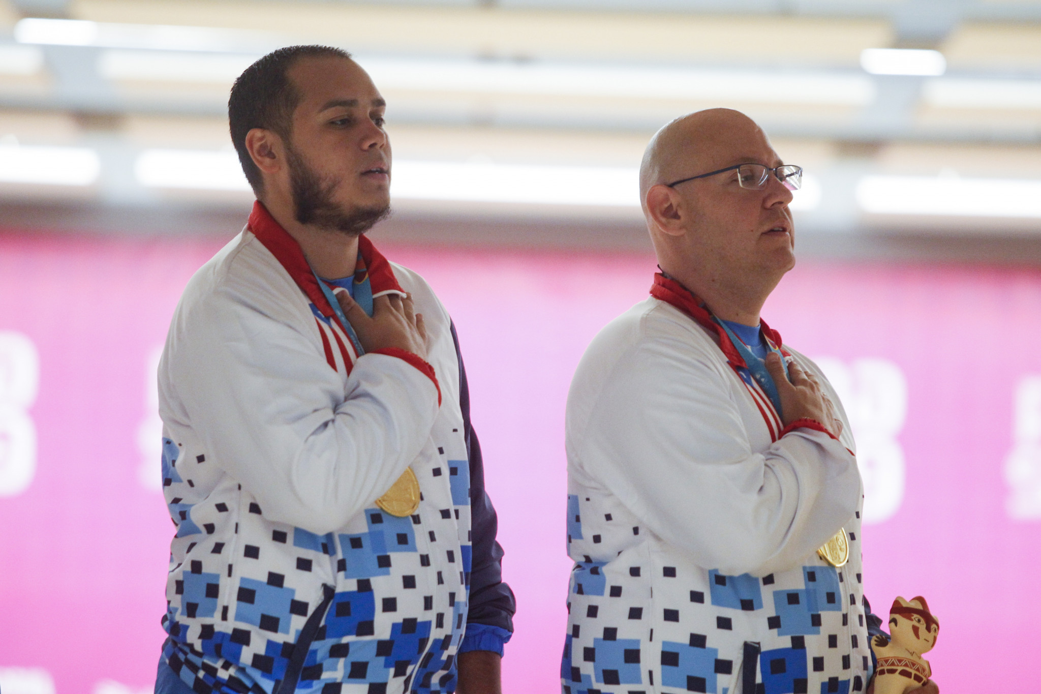 Jean Perez, right, failed a drug test at Lima 2019 ©Getty Images
