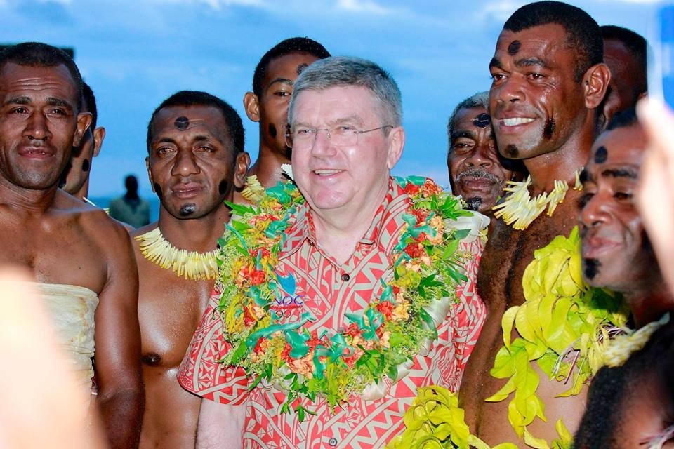 """Thomas Bach praised the """"great efforts"""" made to promote sport in the region"""