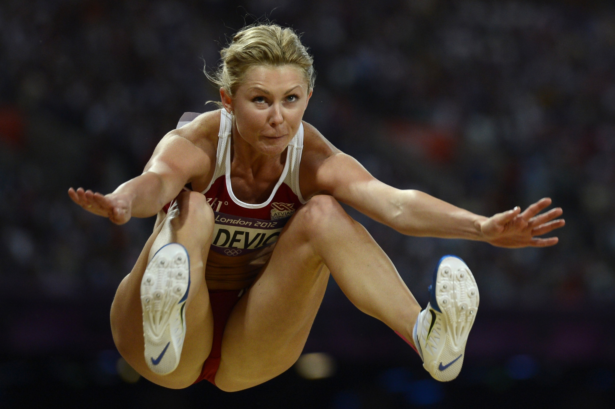 Ineta Radēviča has been banned for two years by the AIU ©Getty Images