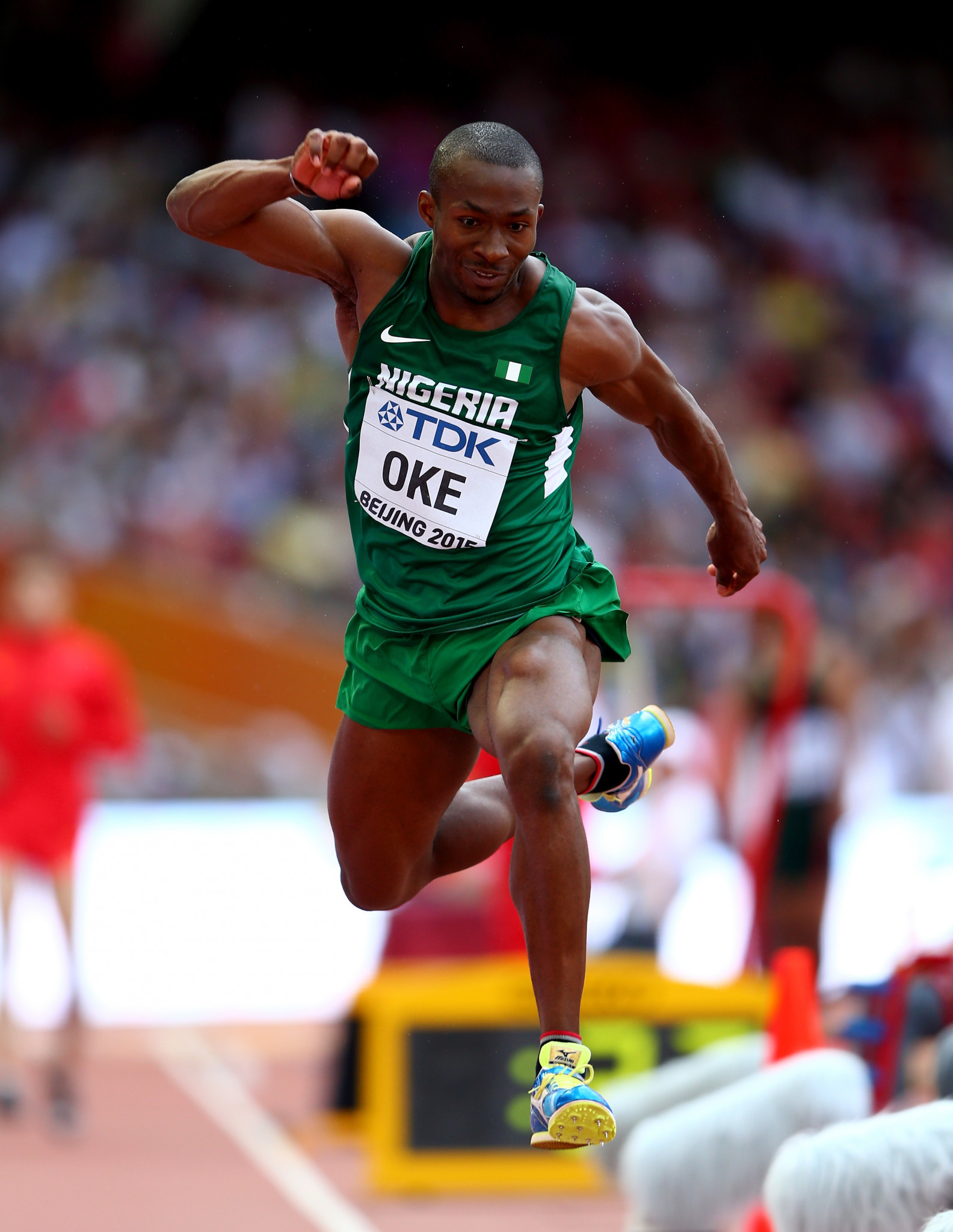 Tosin Oke of Nigeria won the men's triple jump at the 2015 African Games ©Getty Images
