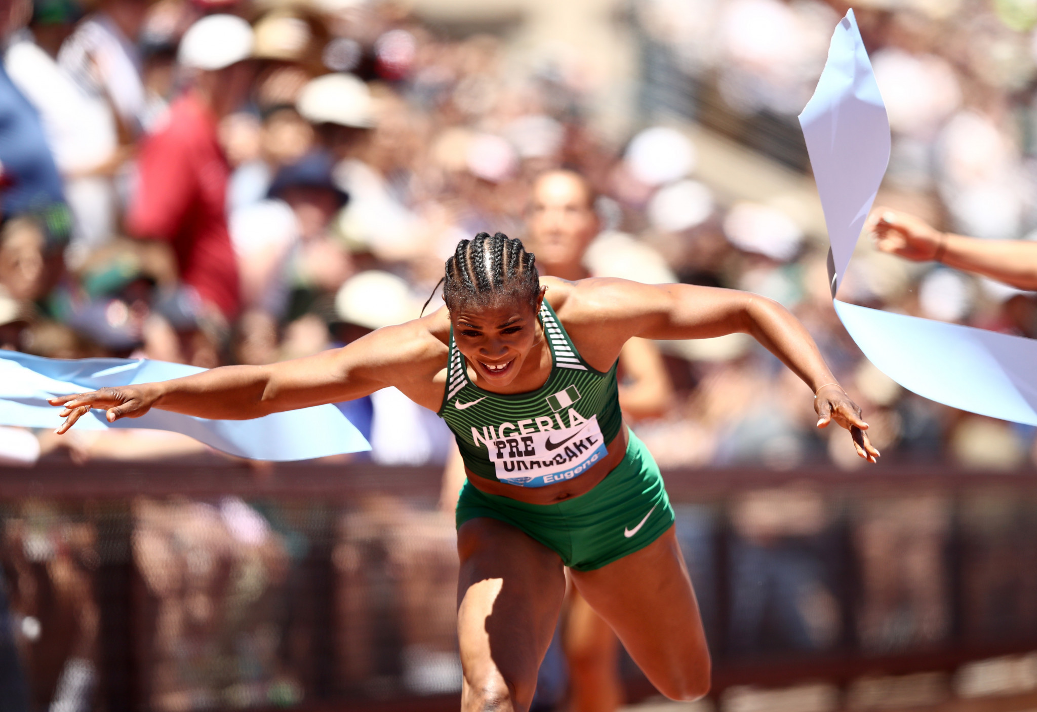 Nigerian sprinter Blessing Okagbare is an Olympic, Commonwealth Games and World Championship medallist ©Getty Images