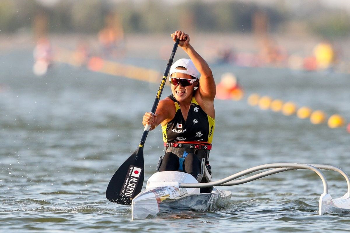 Japan's Monika Seryu finished more than 30 seconds clear of Germany's Esther Bode to claim VL1 gold ©ICF