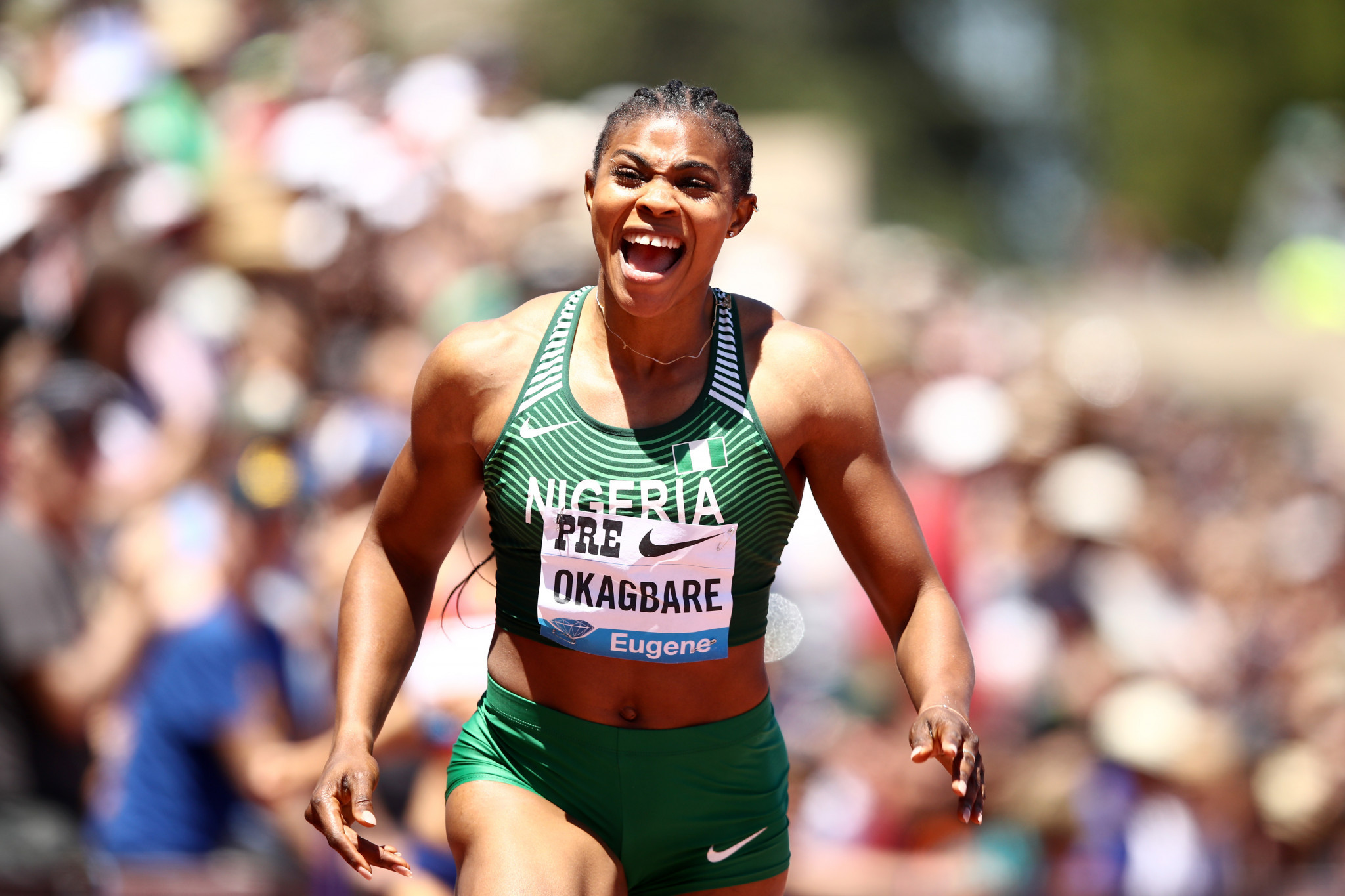 Blessing Okagbare of Nigeria has been critical of the Athletics Federation of Nigeria on social media ©Getty Images
