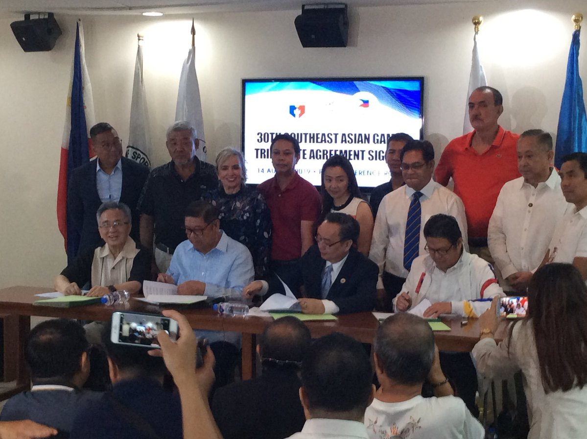 Philippine Olympic Committee among trio of signatories in agreement for hosting 2019 Southeast Asian Games