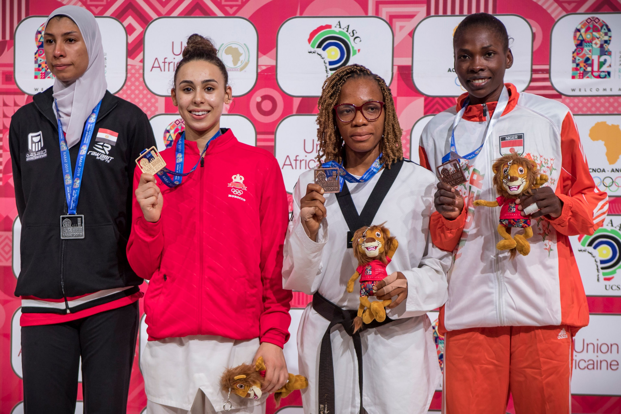 Nada Laaraj of Morocco won the women's under-57kg gold medal at the African Games ©Getty Images