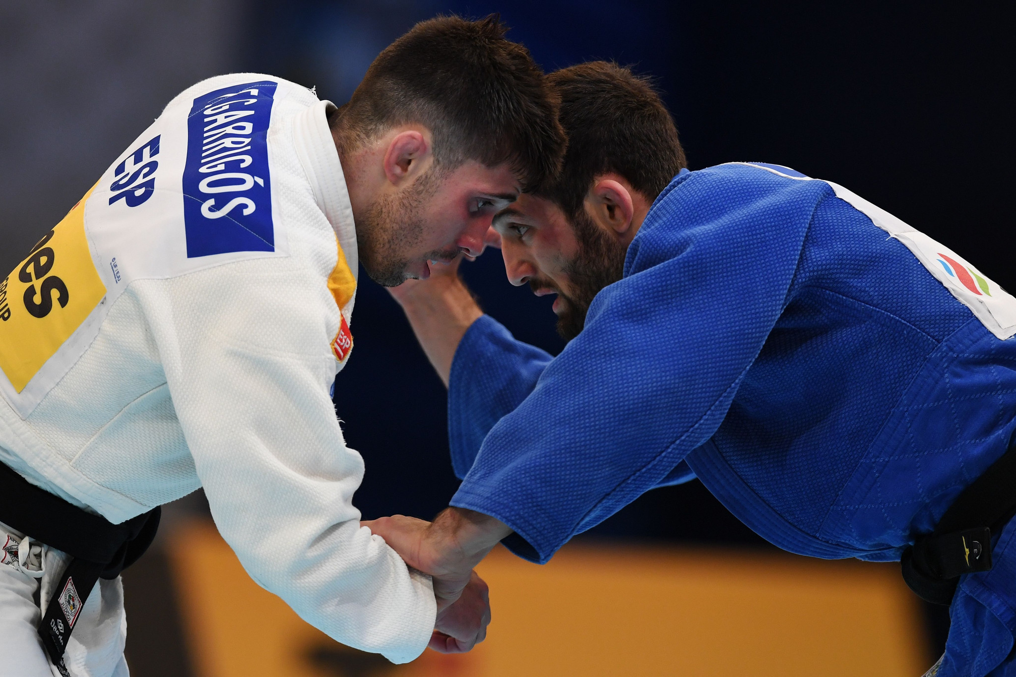 He faced Spain's Francisco Garrigos in round one in a repeat of the 2019 European Games final ©Getty Images