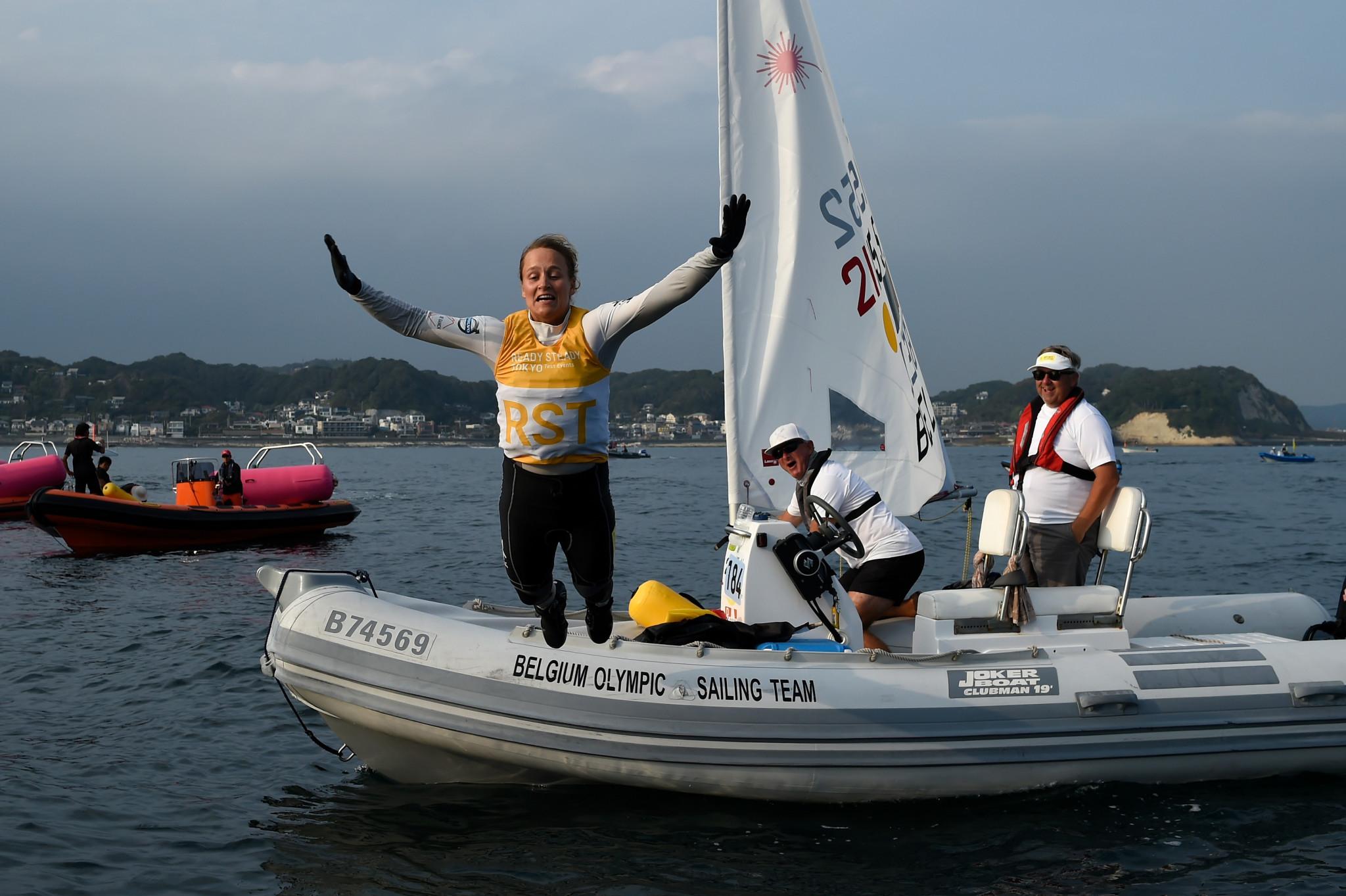 Belgium's laser radial sailor Emma Plasschaert  is among other test event winners in action ©Getty Images