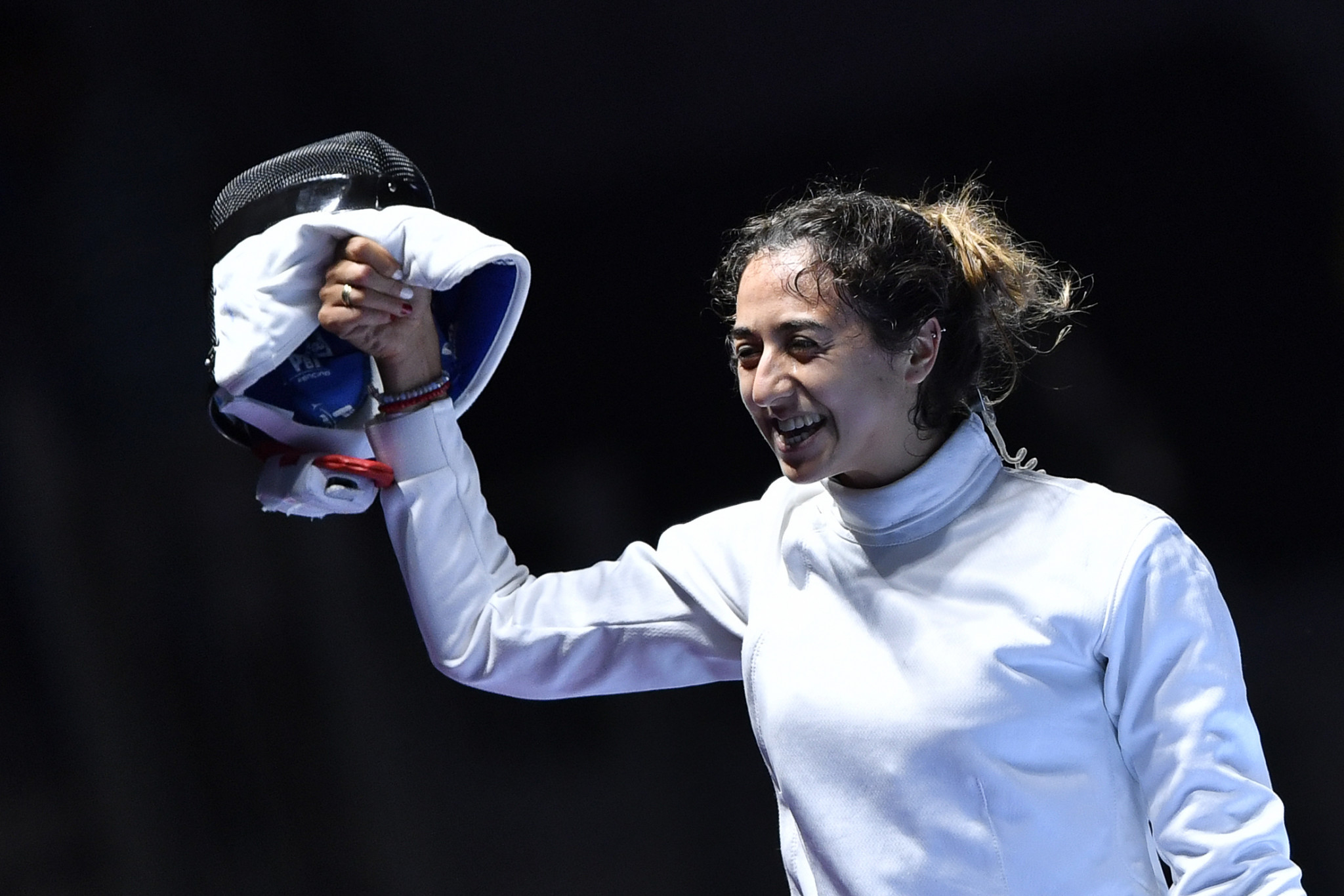 Tunisia's Sarra Besbes won the women's individual épée gold medal ©Getty Images