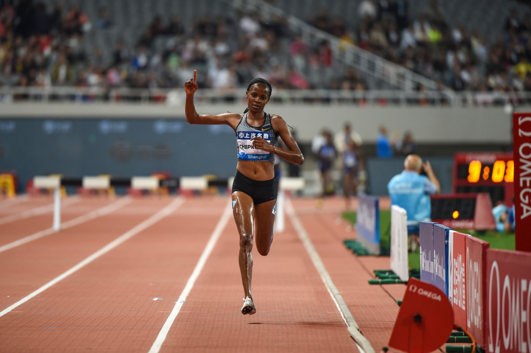 Steeplechase world record holder Beatrice Chepkoech said it was right for Kenya to leave their stars at home in favour of young athletes ©Getty Images