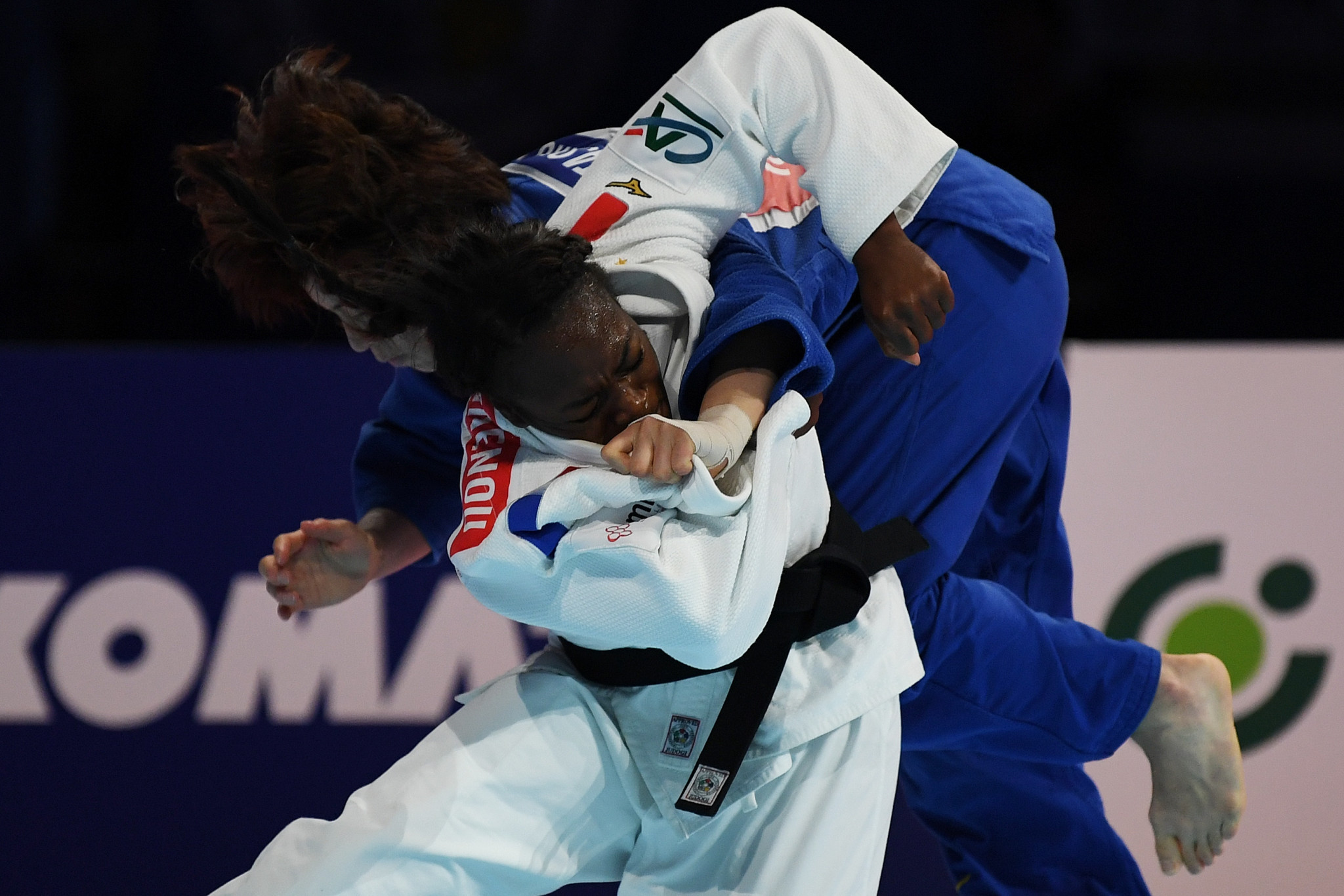 Agbegnenou and Toshiro fought for more than 10 minutes before the Frenchwoman finally triumphed ©Getty Images