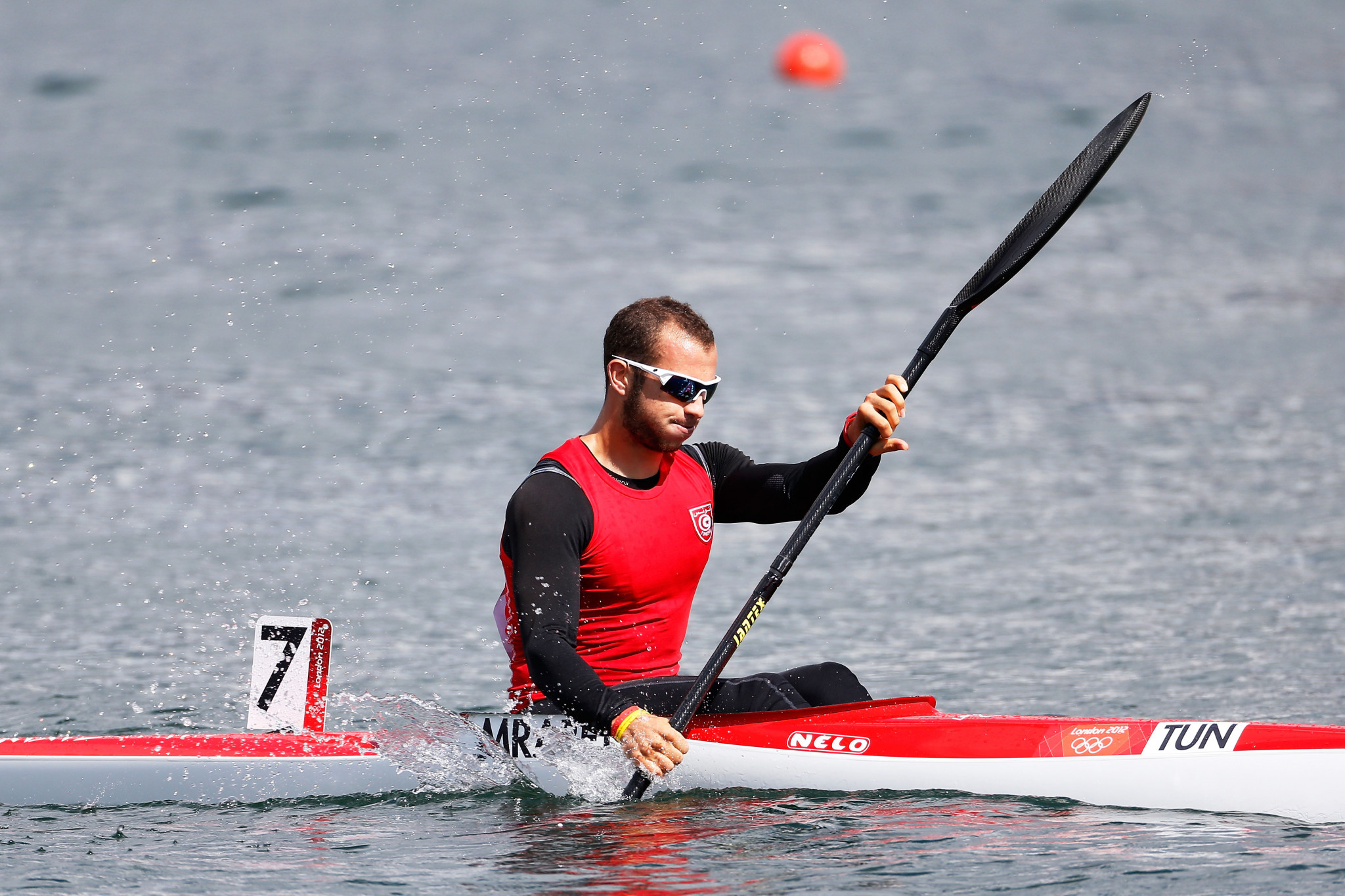Tunisian canoeist Mohamed Ali Mrabet had a day to remember ©Getty Images
