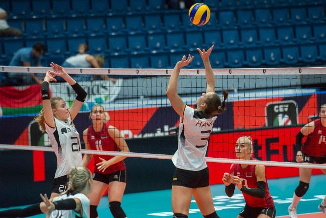 Germany win Pool D with fifth straight victory at Women's European Volleyball Championship