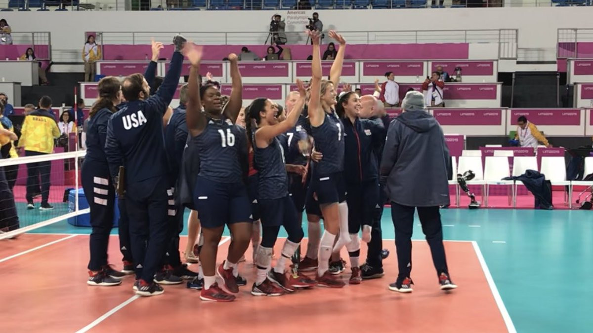 The United States women won sitting volleyball gold in straight sets ©Lima 2019/Twitter
