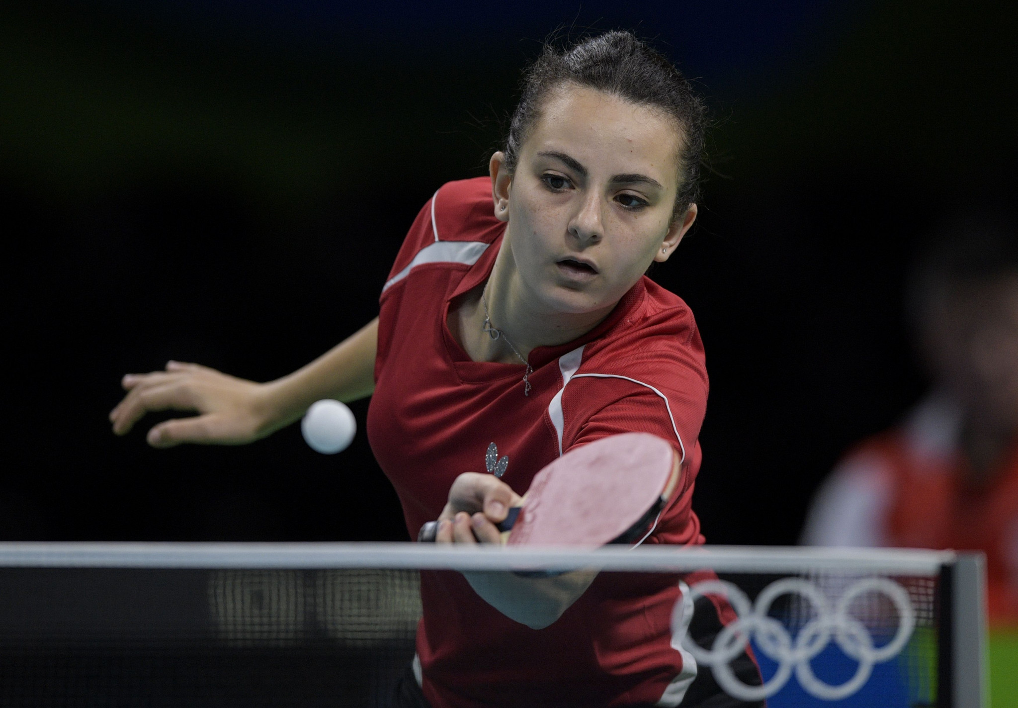 Dina Meshref retained her women's singles title to become the first female Egyptian to triumph back-to-back at the African Games ©Getty Images