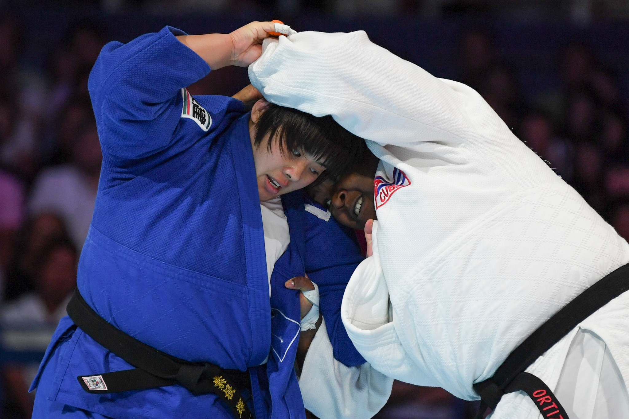 Akira Sone defeated double world champion and former Olympic gold medallist Idalys Ortiz in the final ©Getty Images