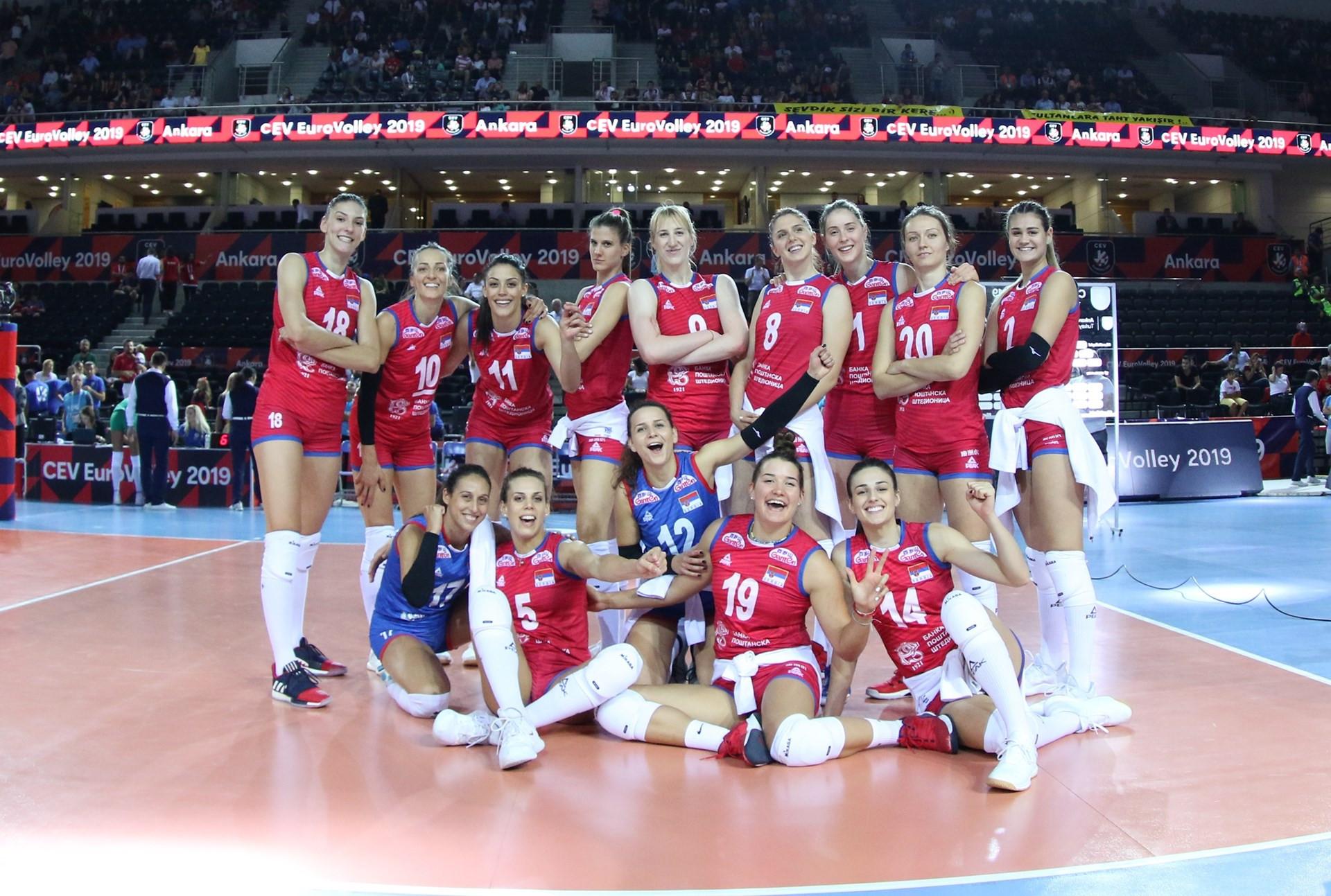 Serbia beat Bulgaria to reach semi-finals at Women's European Volleyball Championship