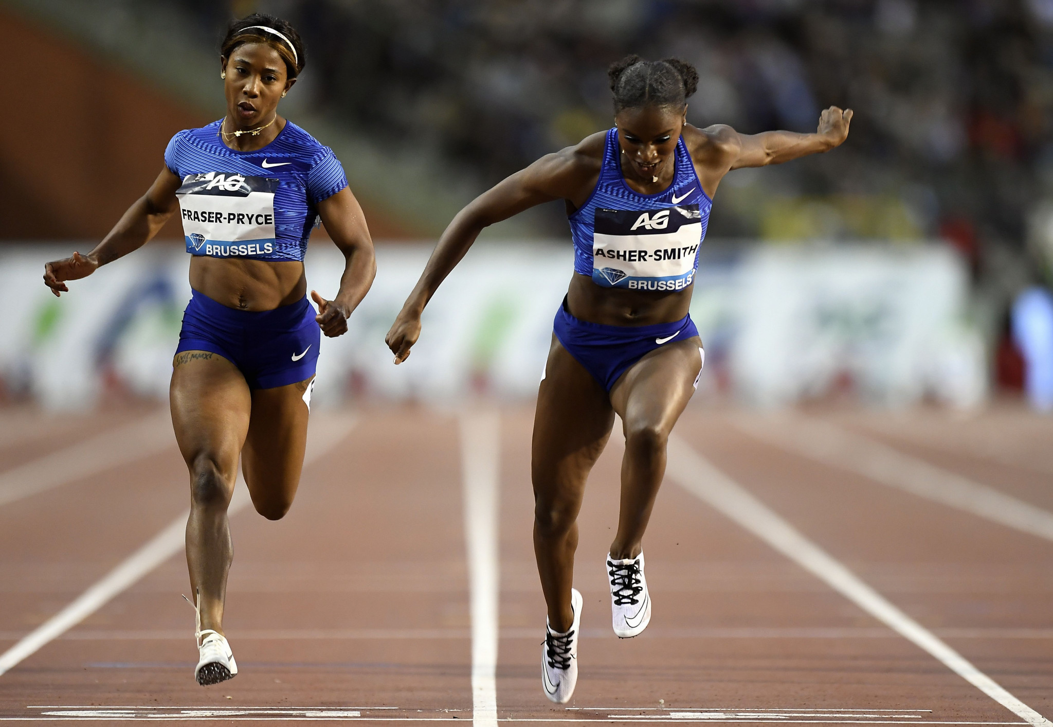 Asher-Smith wins 100m IAAF Diamond League title in Brussels as Taylor equals Lavillenie's record
