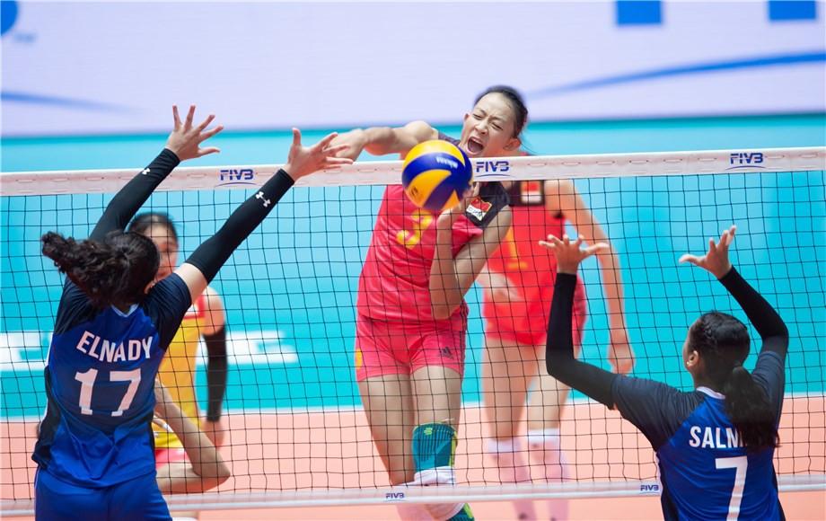 China end Egypt's unbeaten run at FIVB Girls' Under-18 World Championship