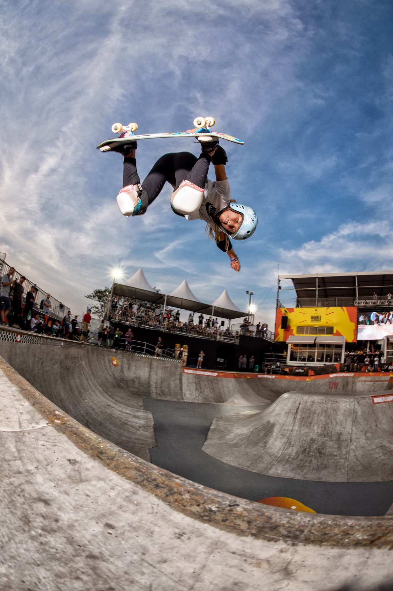 Britain's 11-year-old Brown top qualifier into World Skate Park World Championship semi-finals