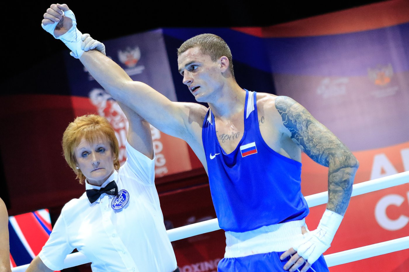 Russian boxers delight home crowd at AIBA Men's World Championships
