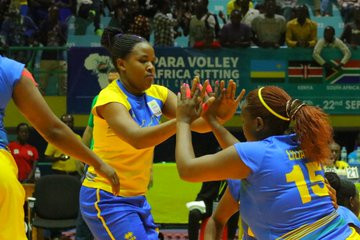 Hosts Rwanda win twice on day one of Women's ParaVolley Africa Sitting Volleyball Championships