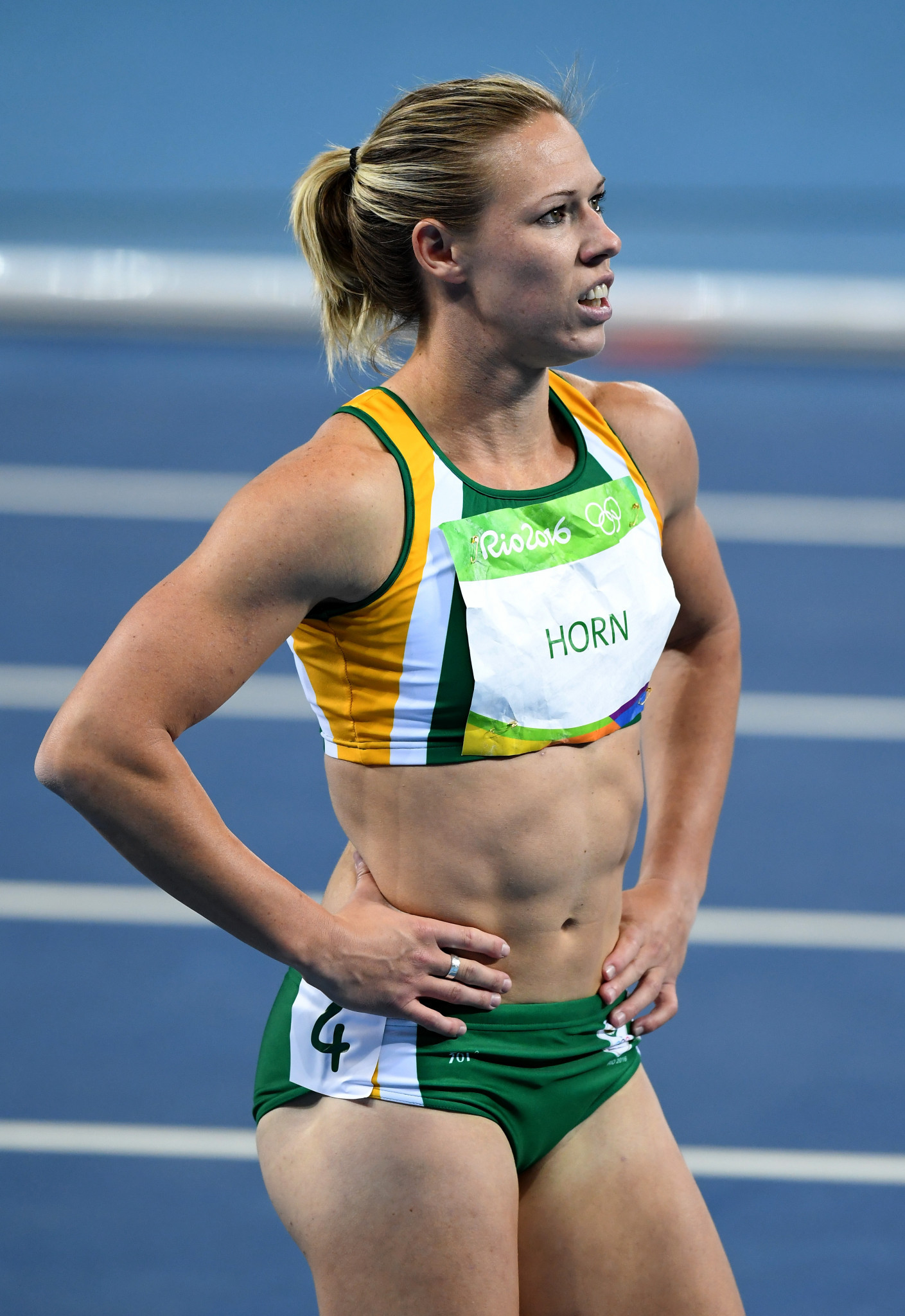 Carina Horn made the 100m semi-finals at the 2015 and 2017 World Championships ©Getty Images
