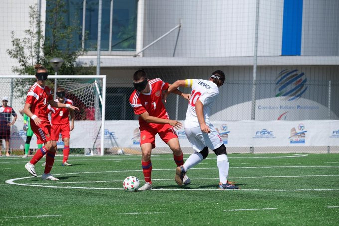 Russia's defence of IBSA Blind Football European title starts with defeat in Rome