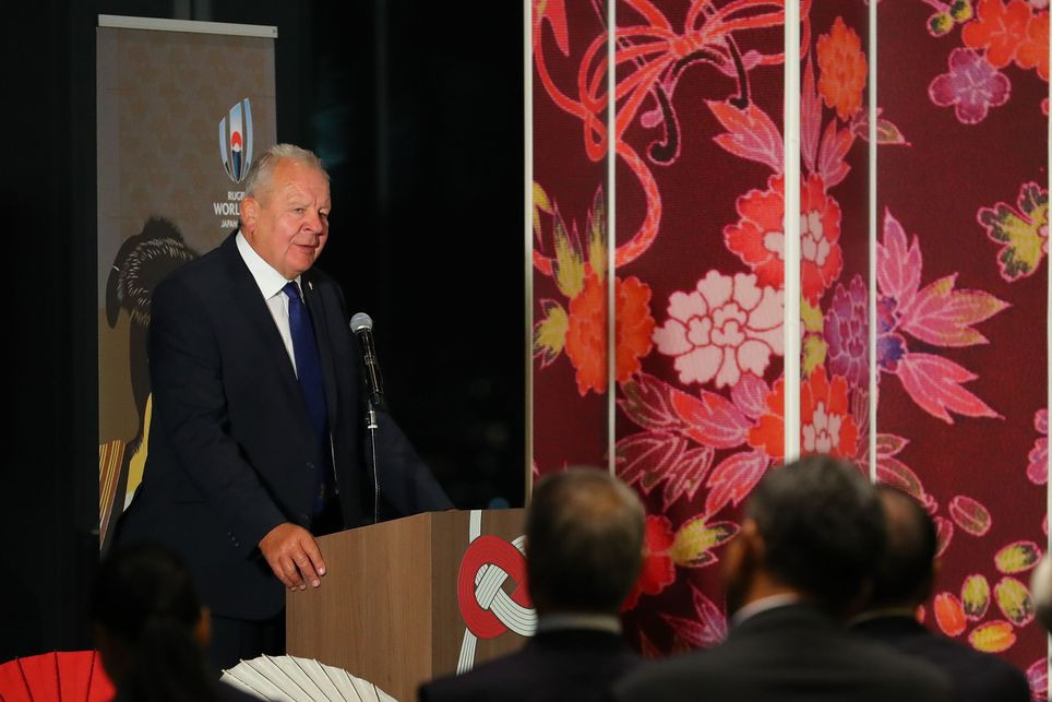 """World Rugby chairman Sir Bill Beaumont believes that Japan is """"comprehensively proving"""" to be the best of hosts for the 2019 Rugby World Cup ©World Rugby"""