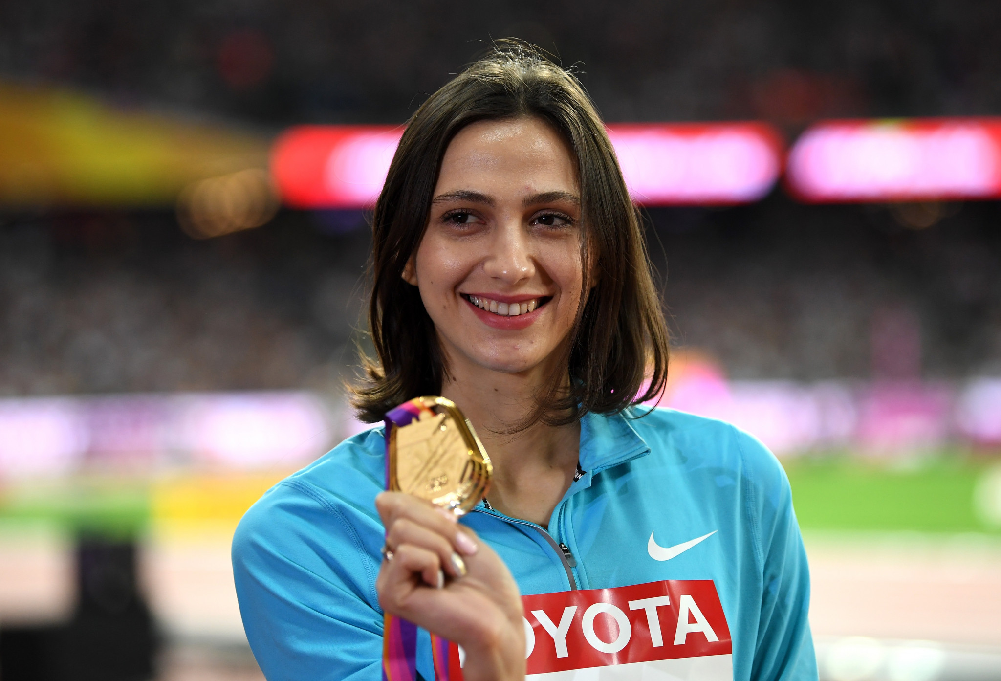 Mariya Lasitskene still believes doping is a serious issue in Russia ©Getty Images