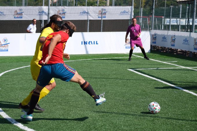 England and Spain into semi-finals at Blind Football European Championships
